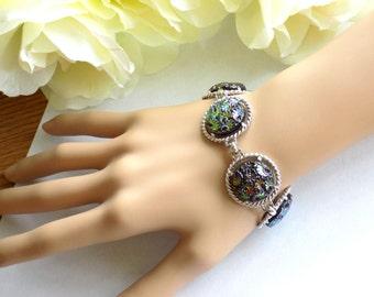 """Sarah Coventry """"Northern Lights"""" Link Style Bracelet Vintage Signed"""