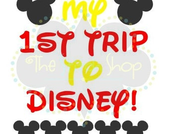 My 1st Trip to Disney SVG file