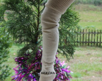 PETITE  Leg Warmers 28 inches flesh color
