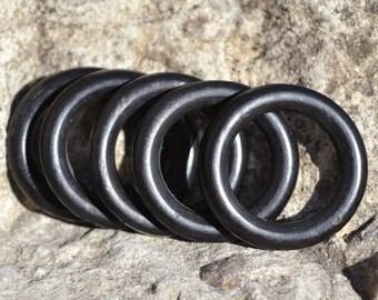 Black horn rings HB001