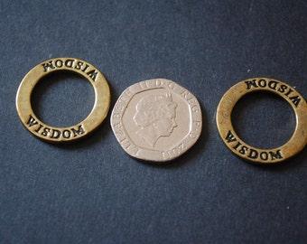 8 bronze tone wisdom ring charms