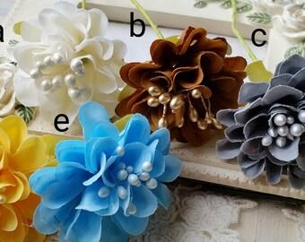 3.5 cm Assorted Colour Satin Flower (.ag)