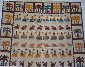 Indian Fabric Panel