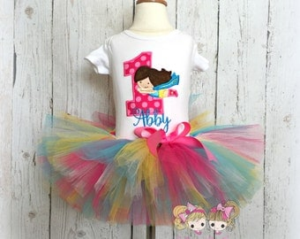 Superhero birthday outfit - supergirl birthday outfit - superhero tutu outfit - 1st birthday outfit - superhero tutu - custom tutu outfit