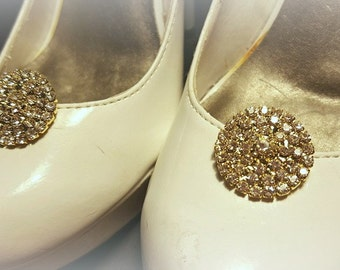 Bridal Shoe Clips, Gold Shoe Clips, Wedding Shoe Clips, Wedding Accessories,Rhinestone Shoe CLips,Crystal SHoe Clips,Clips  Wedding Shoes