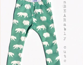 Organic leggings bear leggings bear pants