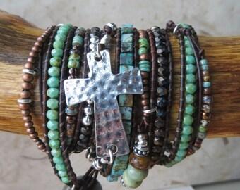 Cross Bracelet-Side Cross Bracelet-Horizontal Cross-Curved Cross-Coming of Age-Godmother Bracelet-Confirmation Sponsor-Daily Devotional