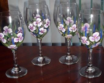 flower wine glasses