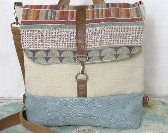 Santa Fe // Messenger bag // Crossbody purse // Backpack convertible // Travel bag // Carry on // Southwestern // Vegan // Ready to ship
