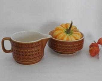 "Hornsea Pottery ""Saffron"" Creamer and Bowl"