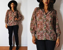70s Fall Forever Blouse M-L