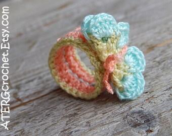 Crochet BUTTERFLY RING by ATERGcrochet