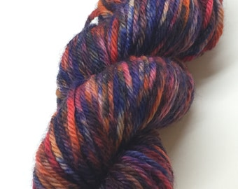 Hand Painted, Bulky Weight, Machine Washable, Wool Yarn - Festival