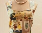 SALE Retro Dress Sundress 50's Party Dress Pin Up Vintage Rockabilly Dress Quirky Dress Yellow Brown Navy Shade - xs-xl,custom