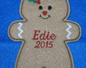 Personalized Gingerbread Ornament or Gift Tag