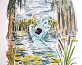 Screaming Hand Art - original gouache painting from 30 years of screaming hand