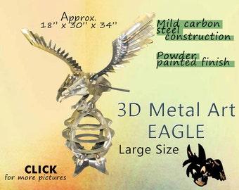 LARGE Metal Art Eagle, Lawn Art, Garden Art by Brown-Donkey Designs