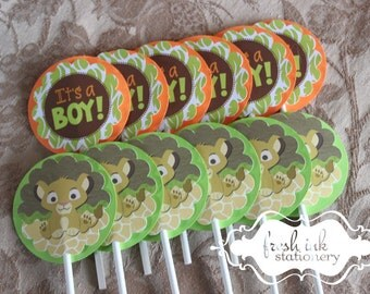 Baby Simba the Lion King Cupcake Toppers