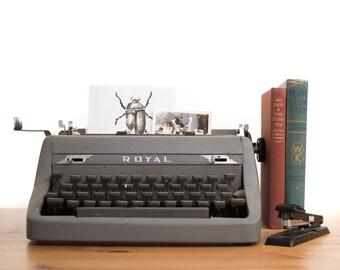 Mid Century Royal Quiet Deluxe Typewriter