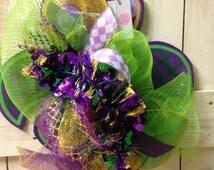 Mardi Gras wooden fleur de lis