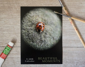 2016 beautiful moments desk calendar, loose leaf calendar, 5x7 photo calendar, holiday gifts, hostess gift, under 25, still life photography