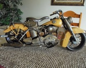 """Vintage Model of The Indian Motorcycle - Indian Replica Known as the """"Chief"""" Bike - 1930s Inspired - Nostalgic Miniature Toy Model"""