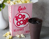 Popcorn Box  25 count Retro Style Movie Night Birthday Party Summer BBQ  Popcorn Box