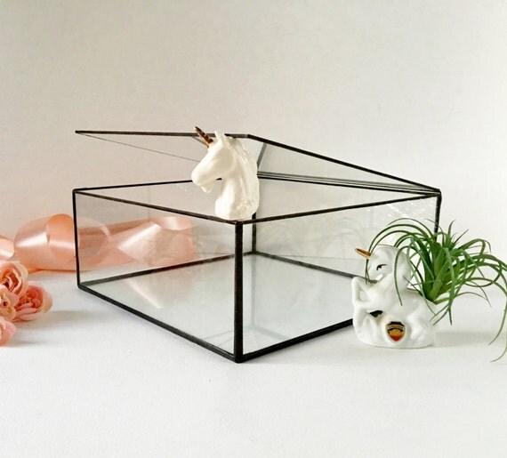 Glass Case Large Glass Display Box Glass Jewelry Box Gift