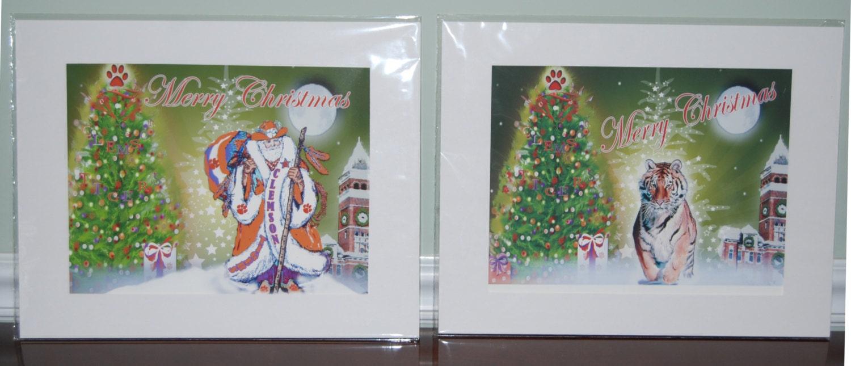 Four Clemson Digital Print Christmas Designs Sold Separately
