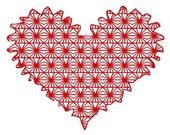 embroidery heart, embroidery lace heart embroidery design, instant download, digitized file, embroidery machine, lace heart embroidery file
