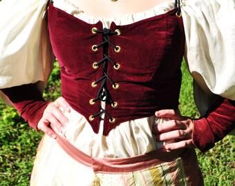 Renaissance Swordmaster Bodice - Renaissance bodice, medieval bodice, velvet bodice, fantasy bodice