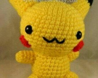 Pokemon Pikachu Inspired Amigurmi Doll Pattern ONLY