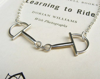 Sterling Silver Snaffle Bit Necklace