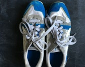 Vintage Asics Gel blue and white sneakers size 7