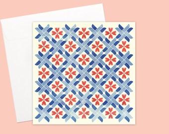 Mediterranean Mosaic Greeting card or greeting card set
