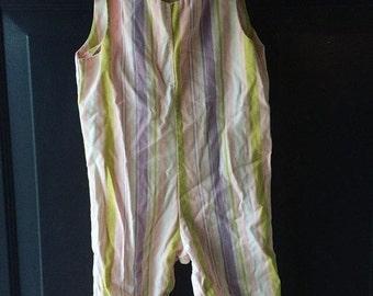 Vintage stripe overalls Jumper Size 12 to 18 months