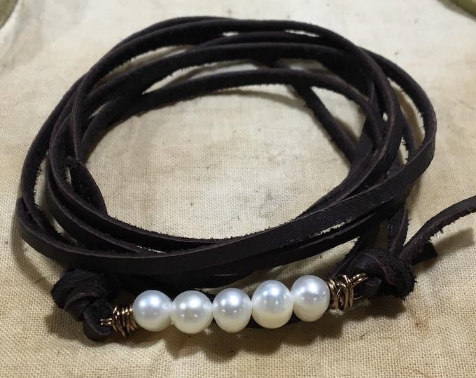 Freshwater Pearl Wrap Choker or Bracelet Jewelry