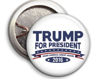 Donald Trump for President 2016 - Button Badge / Pinback - 25mm 1 inch USA
