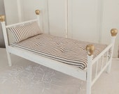 Vintage wood doll bed,white folding doll bed