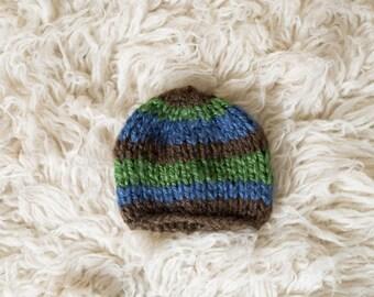 Newborn Boy Hat, Photography Prop, Ready To Ship, Newborn Hat, Baby Boy, Beanie Hat, Knit Hat