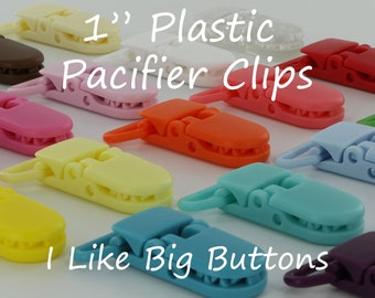 25 KAM Clips/Plastic Clips Pacifier Soother/Paci/Dummy/Nuk/MAM/Bib/Toy Holder Clips: You Choose Color(s)