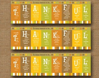 Printable Thanksgiving Bookmark | So Many Reasons to Be Thankful Scripture, Bible Verse, Christian Bookmark | DIY PRINTABLE Page Markers