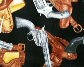 Wild West Cowboy Gun Fabric By The Yard
