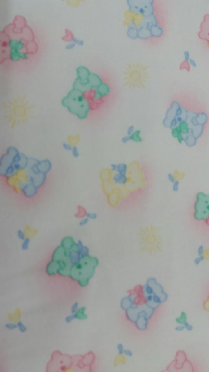 Flannel Fabric Yardage Teddy Bear Flower Flannel By The Yard