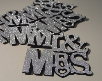 Wedding / Engagment party decoration ~ scrapbooking ~ die cut ~ confetti ~ cupcake topper ~ embellishments
