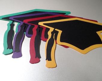 Graduation cap  ~ confetti ~ party  decorations ~ scapbooking ~ die cuts ~