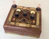 Steampunk Control Console Wooden Jewelry Box