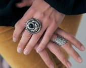 Antique Silver Coiled Snake Ring