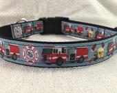 Fire trucks Custom Dog Collar