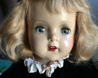 """Gorgeous 40's composite Alexander Princess Elizabeth doll 16 1/2"""""""